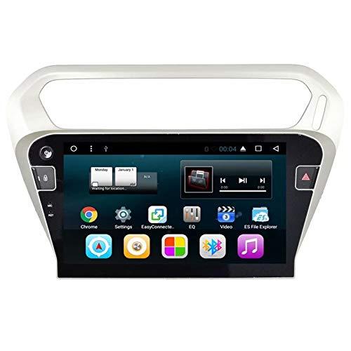 TOPNAVI Indash 10.1Inch Centre Multimédia pour Citroen C-Elysée 2014 2015 2016 2017 Android 7.1 Stéréo Radio Navigation GPS WiFi 3G RDS Lien Miroir FM AM