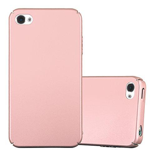 Cadorabo Funda para Apple iPhone 4 / iPhone 4S en Metal Oro Rosa - Cubierta Protección de Plástico Duro Super Delgada e Inflexible con Antichoque - Case Cover Carcasa Protectora Ligera