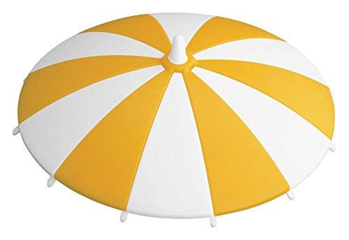 HANSI SA.Trinkhalmdeckel ge/ws gelb/weiß