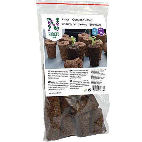 Nelson Garden 1933 Quelltabs - Für Ihre Lieblings-Samen - 14pcs Leicht verwendbare Quelltabletten für die Anzucht