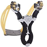 BESTZY Powerful Slingshot Bow Catapult,Outdoor Hunting Sling Shot Rubber Bands by Outdoorstainless High Velocity Most Powerful Profesional