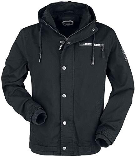 R.E.D. by EMP Black between-seasons jacket with labeldetails Tussenseizoensjas zwart M