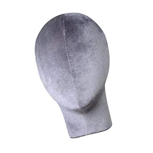 SM SunniMix Modèle de Tête Mannequin de Chapeau de Perruque d'Écharpe 26 * 53.5cm - Gris