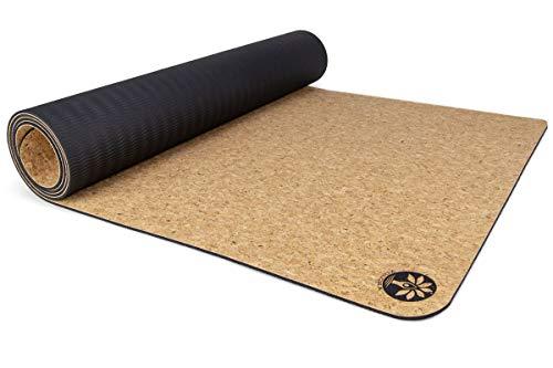 "Yoloha Cork Yoga Mat Nomad Cork Travel Yoga Mat, Non Slip, Sustainable, Soft, Durable, Foam, Premium, Handmade, Moisture Resistant - 72"" x 26"", 4.5 mm Thick (Solid)"