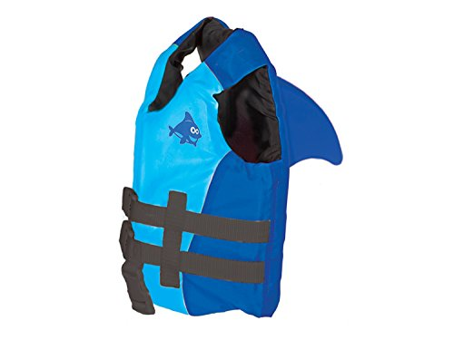 SwimWays Sea Squirts Fin Friends Life Jacket, Blue, 30-50 LB (41132)