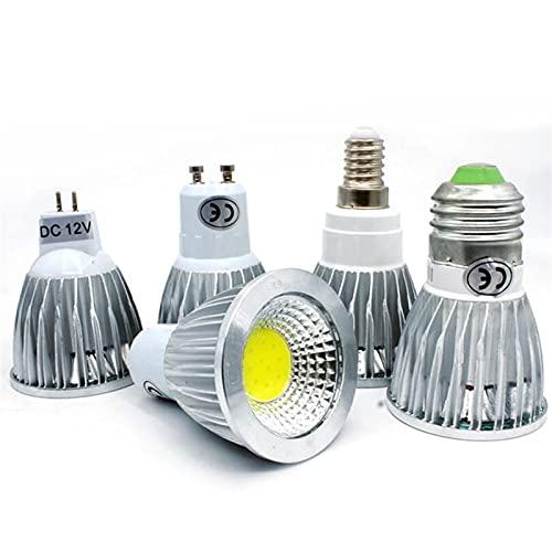 GHC LED Bombillas 1pc LED COB E27 LED Lámpara LED 15W E14 Bombilla LED GU10 GU5.3 85 a 265V MR16 DC 12V Lámpara Regulable LED para decoración del hogar (Color : E14 85 TO 265V, Talla : Warm White)