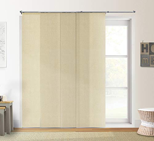 Chicology Adjustable Sliding Panels Cut to Length Vertical Blinds, Up to 80' W X 96' H, Urban Desert (Light Filtering)
