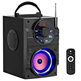 Wireless Bluetooth Speakers with Subwoofer Rich Bass Portable Bluetooth Speaker with Light Big Speaker FM Radio MP3 Player for Home Phone Computer Indoor/Outdoor Party Speakers