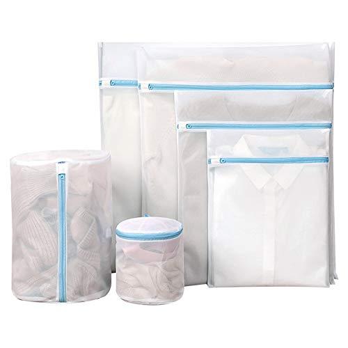 Netz-Wäschesack, wiederverwendbar, Wäschesack mit Reißverschluss, Reise-Organisationstasche für Kleidung, 6 Stück