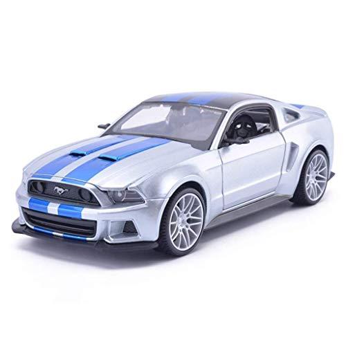 TOY Juguetes educativos, juguetes para niños, juguetes para niñas, juguetes para automóviles, modelos de automóviles, modelos de automóviles 1:24 Ford Mustang Boss Simulation Alloy Toy Car Truck Chil
