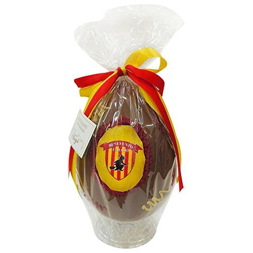 Uovo di Pasqua ARTIGIANALE del BENEVENTO con SORPRESA da 350 gr - Cioccolato al latte Squadre di Calcio (Benevento, 350 gr)