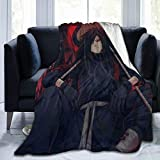 Wmake Daily Street Flannel Plush 3D Throw Blanket, Anime Naruto Madara Uchiha Blankets for Better Relaxing, Easy Care Air Conditioning Blanket 80'X60'