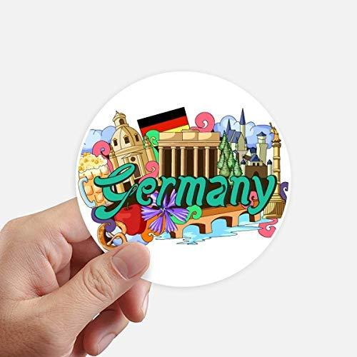 DIYthinker Nieuwe Zwaan Stone Kasteel Bier Duitsland Graffiti Ronde Stickers 10 Cm Wandkoffer Laptop Motobike Sticker 8 Stks