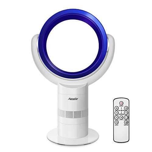 Leise Turmventilator, Standventilatoren für ältere Menschen und Kinder, Klingenloser Lüfter mit Air Multiplier Technologie, Fernbedienung, 9H Sleep Timer, 90° Oszillation, 10 Geschwindigkeiten