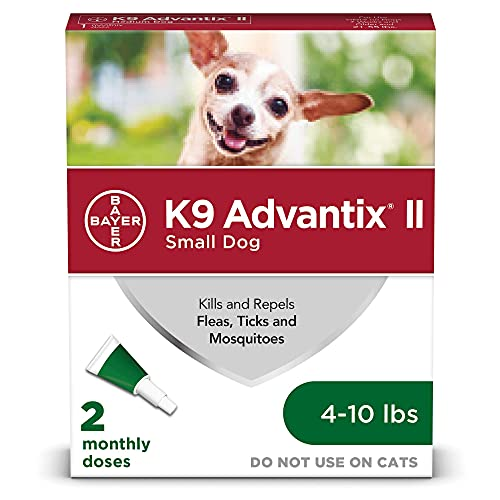 K9 Advantix II Flea and Tick Prevention for Small Dogs 2-Pack, 4-10 Pounds