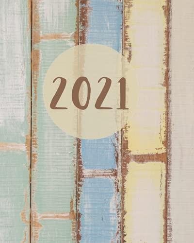 Agenda 2021: Gennaio- Dicembre 2021. Rubrica Giornaliera e Settimanale Formato 20x25 cm
