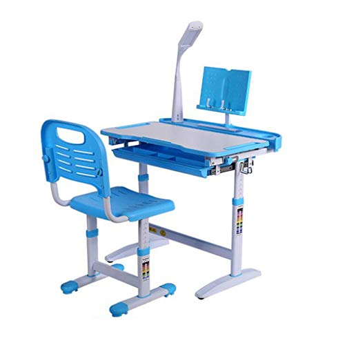 Q/S Children Study Desk, Kid Desk, Boy And Girl Homework Desk And Chair Set Light Combined Study Table Can Be Raised And Lowered(Table: 70 x 51cm)