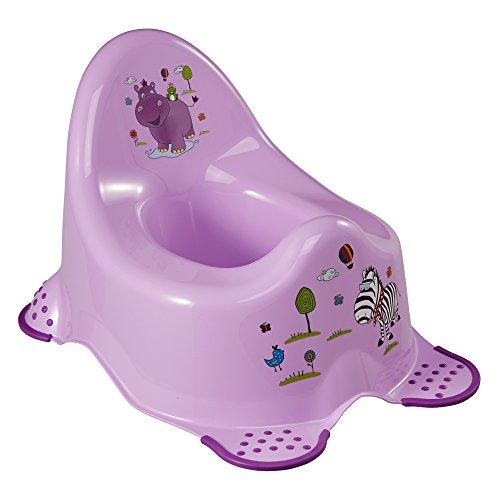 OKT Kids 1864850901200 Vasino da notte Deluxe Hippo, Lilla, Viola (flieder)