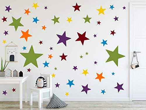 Bester der welt timalo® 120 Stück Wandaufkleber Kinderzimmer XL Star Pastell Wandaufkleber – Aufkleber  …
