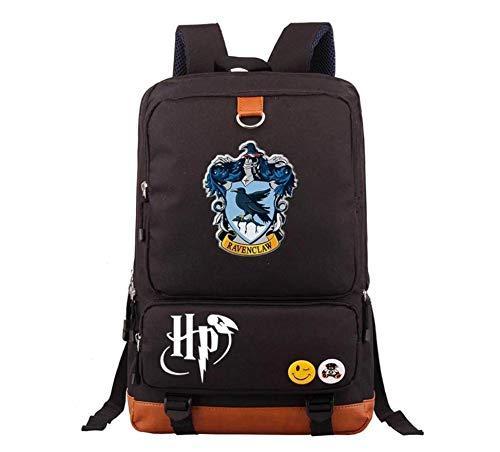 Acessório Zuunky Compatível com Mochila Bolsa Harry Potter Todas As Casas 8 Cores Exclusiva (CORVINAL, PRETO)