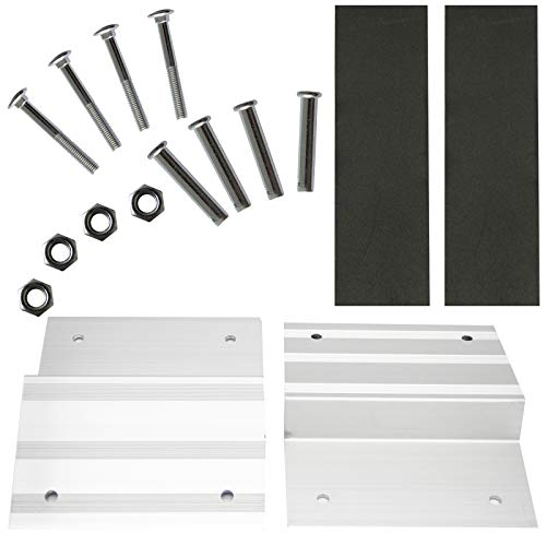 Ruedamann 2' x 8' Aluminum Ramp Kit for Loading Motorcycle, Truck,Trailer, Lawn Mower, Combine With the Planks to Get Loading Ramp (RDRK8)