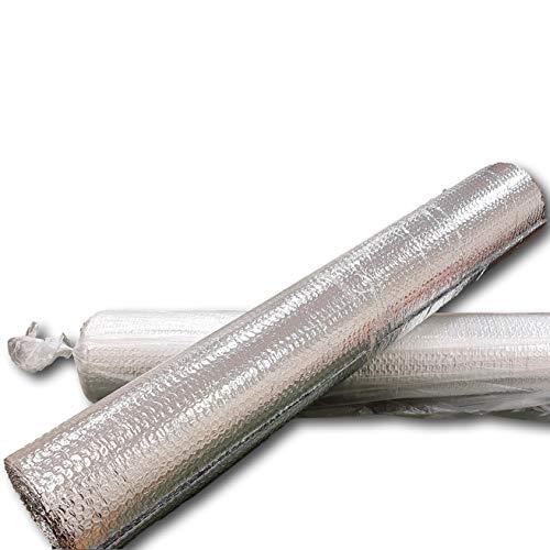 IMBALLAGGI 2000-2 Rotolo di foglio Isolante multisuo a doppio strato termico riflettente, rotoli 1mt x 7mt con biadesivo compreso 14 mq