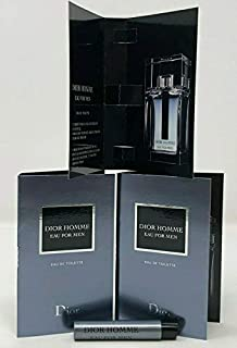 Christian Dior Dior Homme Eau For Men Sample-Vials For Men 0.03 oz EDT *Lot Of 3* *Free Name Brand Sample Vial With Every Order*