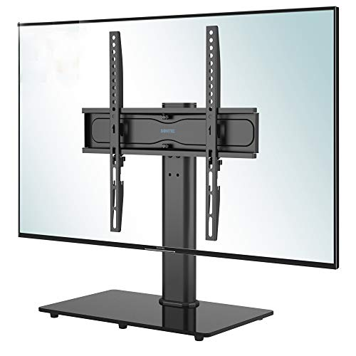 BONTEC TV Standfuß TV Ständer Schwenkbar für 26-55 Zoll LCD LED OLED Plasma Flach & Curved Fernseher bis zu 40KG, Höhenverstellbar & Stabil Max.VESA 400x400