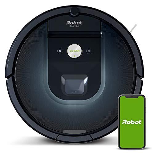 Robot aspirador iRobot Roomba 981 Alta potencia y Power Boost, Recarga y sigue limpiando, Óptimo mascotas, Cepillos...