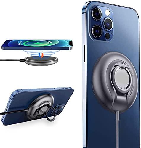【15W急速充電】ワイヤレス充電器 マグネット iPhone 12/12 Pro/12 Pro Max/12 Mini AirPods 2/Pro シリーズ 無線充電 磁気タイプ 2in1 Qi 充電スタンド&パッド【2021最新版/MagSafeデバイス