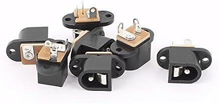 eDealMax 7 piezas de montaje en PCB 5.5mmx2.1mm 3 Terminales de alimentación de