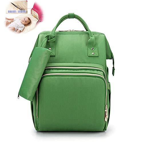 Doppelschulter Mami Tasche Multifunktions-Babytasche Mit Großer Kapazität Tragbare Kleine Kosmetiktasche Windel Babyrucksack,Grün