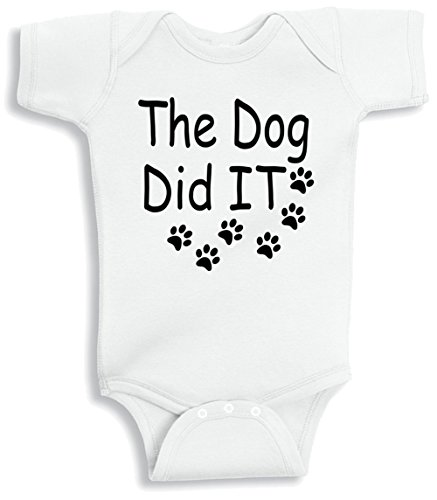Lil Shirts The Dog Did It Baby Bodysuit (6-12 Months)