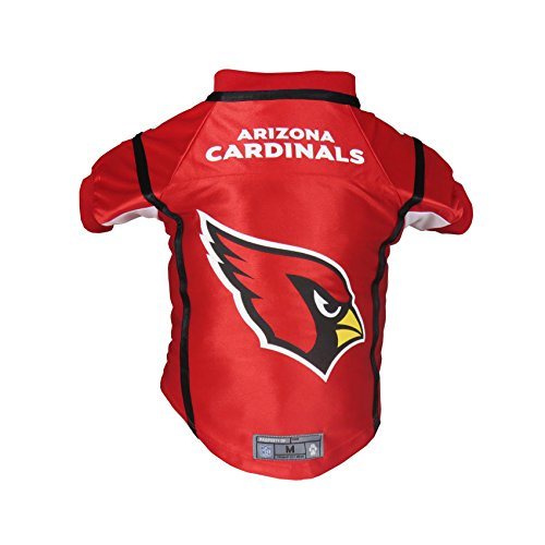 Little Earth NFL Arizona Cardinals Premium Pet Jersey, Large, Red