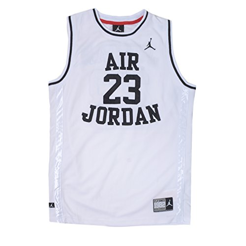 NIKE Jordan Little Boys' Classic Mesh Jersey Shirt (6, White)