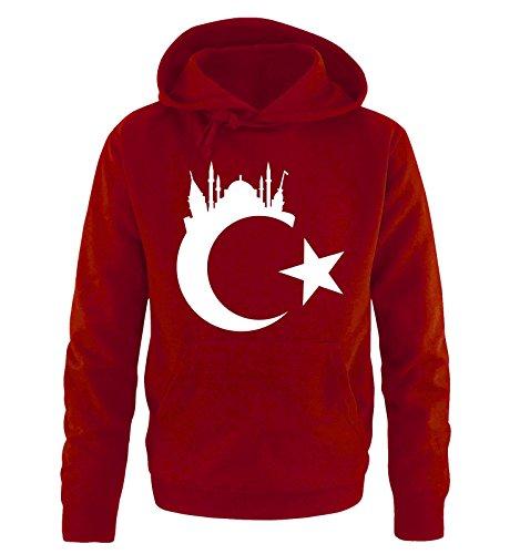 Comedy Shirts Türkei - Wappen - Istanbul - Herren Hoodie - Rot/Weiss Gr. L
