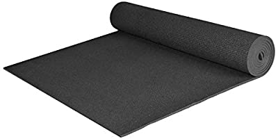 YogaAccessories Extra Wide and Extra Long 1/4'' Deluxe Yoga Mat