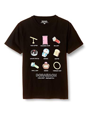 [ドラエモン] Tシャツ 半袖 ドラえもん 秘密道具 ブラック 日本 L (日本サイズL相当)