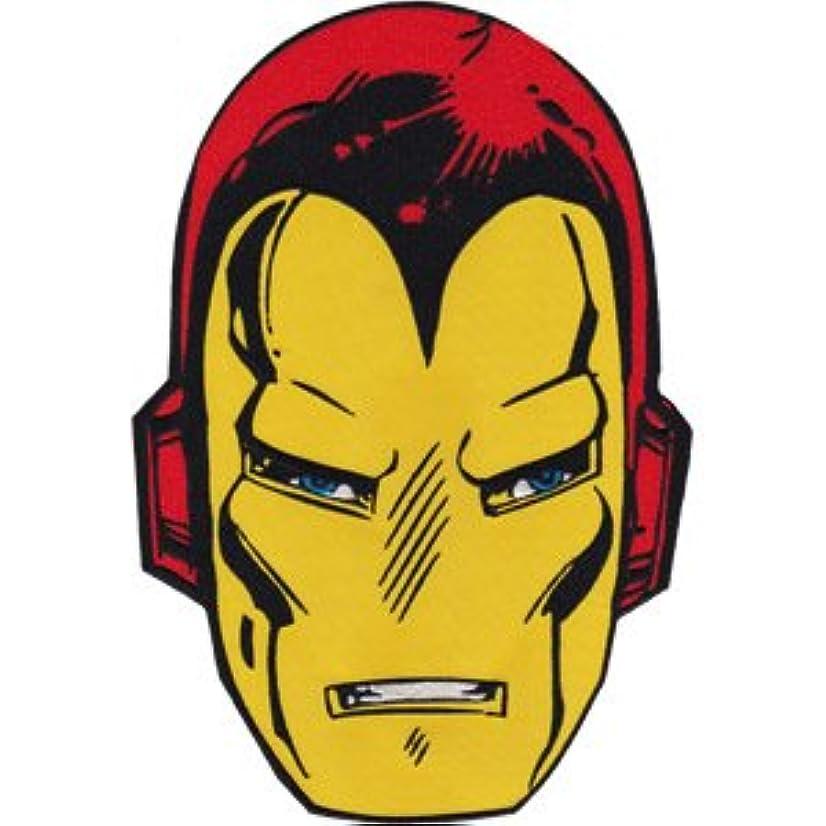 IRON MAN HEAD, Officially Licensed, Iron-On / Sew-On, 6.8