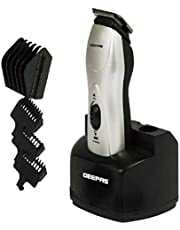 Geepas GTR34 Rechargeable Trimmer Trimmer (Black and Silver)