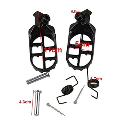 Babysbreath17 1 Paar Motorrad-Fußrasten Fußrasten Fuß Unterstützung für Yamaha PW 50 80 PW50 PW80 50 Dirt Bike Fußpedal