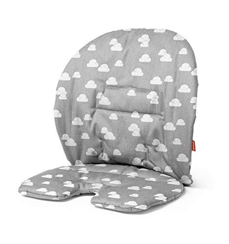STOKKE® Steps™ Baby Set Kissen – Hochstuhl-Kissen für den STOKKE® Steps™ – Für Babys und Kinder – Farbe: Grey Clouds