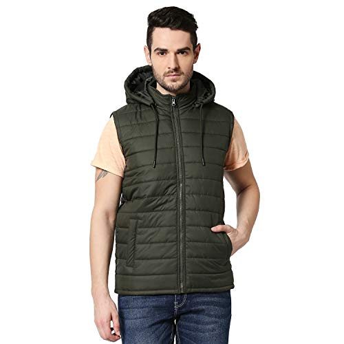 Bewakoof Men's Plain Puffer Jacket