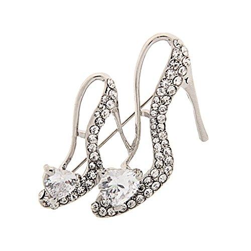 P Prettyia Señoras de Plata Rhinestone de Cristal Zapatos de Tacón Alto de Reina...