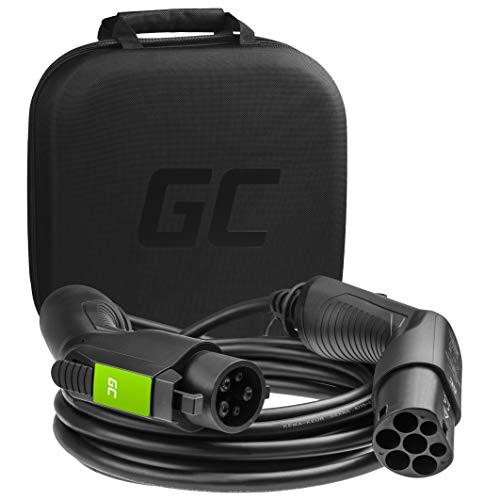 Green Cell® Cable de Carga Tipo 1 para Coches eléctricos EV PHEV | 3,6 kW | 16 A | Tipo 1 a Tipo 2 | 5 Metros | 1 Fase | Compatible con Toyota Prius, Fiat 500, Nissan Leaf