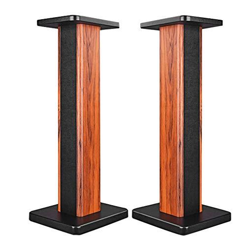 Standfüße Lautsprecherständer Surround-Sound Regalbodenregal Audio-Unterstützung, EIN Paar (Color : Yellow, Size : 80cm (31.5 inch))