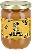 KoRo - Mandelmus Braun 500 g - 100 % Mandeln ohne Zucker und Salz - Nuss Creme ohne Zusätze
