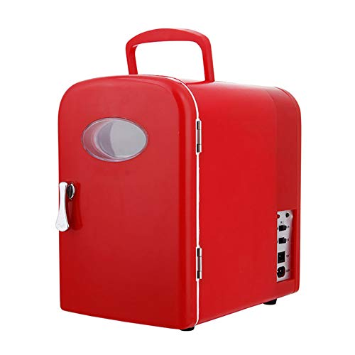 4L Kühlschrank mit kleinem Auto, Getränke, Champagnerkühler und Weinkühler, 12V 220V Kompaktkühler und Wärmer, für Camping zu Hause und auf Reisen