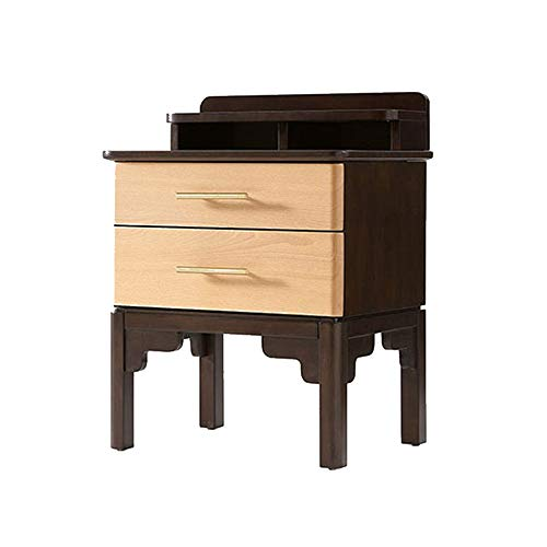 Tafels HUO slaapkamer alle massief houten bed multifunctionele dubbele pompen opbergkast nachtkastje 54 * 41 * 71cm