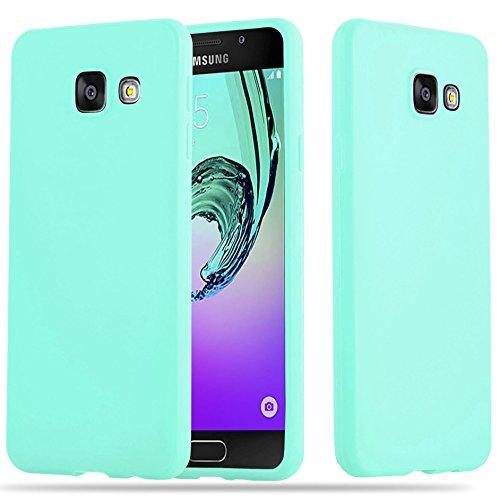 Cadorabo Hülle für Samsung Galaxy A3 2016 in Candy BLAU - Handyhülle aus flexiblem TPU Silikon - Silikonhülle Schutzhülle Ultra Slim Soft Back Cover Case Bumper